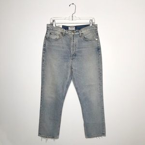 Agolde Riley Hi Rise Straight Crop Jeans Vanished